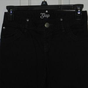 Gap black denim cut pants 10 girls